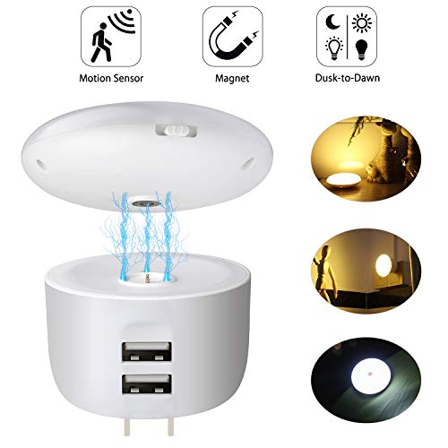Motion Sensor Night Light with Charger,Momen LED Movement Sensor Light with Magnetic Base for Bedroom,Bathroom,Hallway,Stairs,Kitchen,Closet,Kids and More