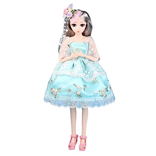 FlyKits BJD Dolls, 1/4 SD Doll 18 Inch 26 Ball Jointed Doll DIY Toys with Full Set Clothes Shoes Wig Makeup, Best Gift for Girls (A)
