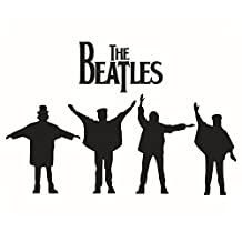 Winhappyhome THE BEATLES Wall Art Stickers for Bedroom Living Room Coffee Shop Background Removable Decor Decals