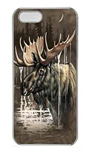 Moose Forest PC Case Cover for iPhone 5 and iPhone 5s Transparent