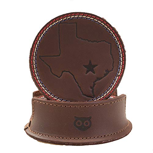 Leather Texas State/Lone Star Coasters