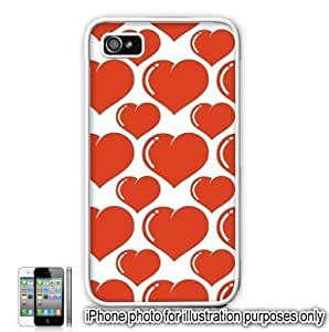 Red Bubble Hearts Love Monogram Pattern For Samsung Galaxy S6 Case Cover Skin White
