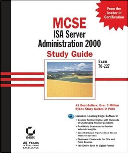 Amazon com: MCSE ISA Server 2000 Administration Study Guide: Exam 70