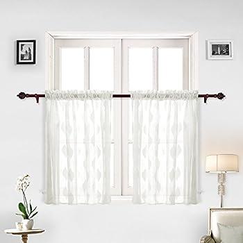 Amazon Com Deconovo Rod Pocket Curtains Super Soft Leaf