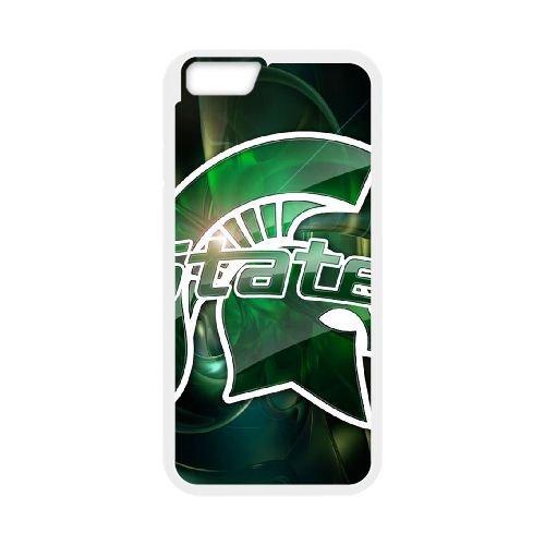 Michigan State 004 coque iPhone 6 Plus 5.5 Inch Housse Blanc téléphone portable couverture de cas coque EOKXLKNBC26658