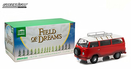 1973 Volkswagen Type 2 (T2B) Bus from The Classic 1989 Film Field of Dreams Greenlight Collectibles 2015 Artisan Collection 1:18 Scale Limited Edition Die-Cast Vehicle
