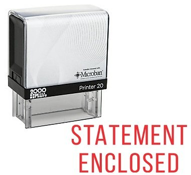 STATEMENT ENCLOSED Office Self Inking Rubber Stamp - Red Ink (A-5413)