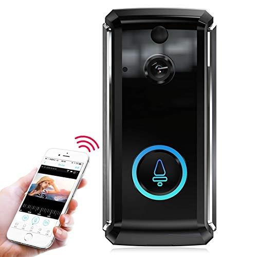 Wireless Video Camera Door Bell Chime Intercom w// Night Vision in Black