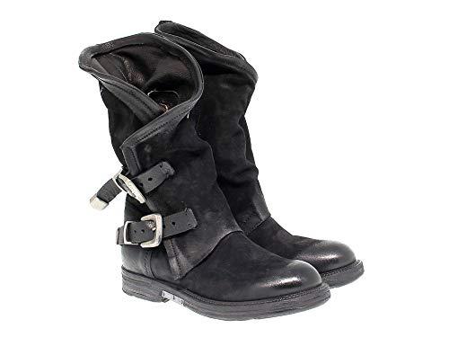 donne nera A pelle 227309 98 di stivali S zx4wSE