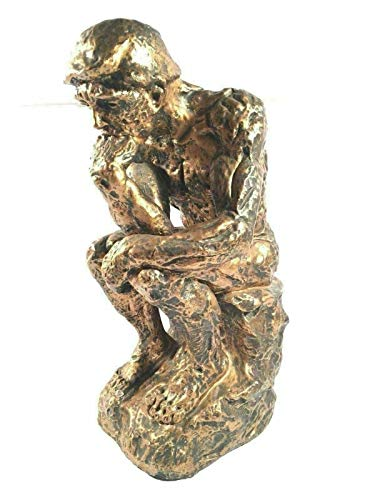 PHOENIX FINDS TREASURES Marwal Ind Inc The Thinker for Vintage Chalkware Statue Large Decorative Made in USA