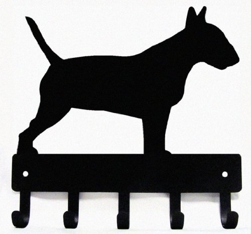 The Metal Peddler Bull Terrier Dog - Key Hooks & Holder Small 6 inch Wide (Best Bull Terrier Breeders)