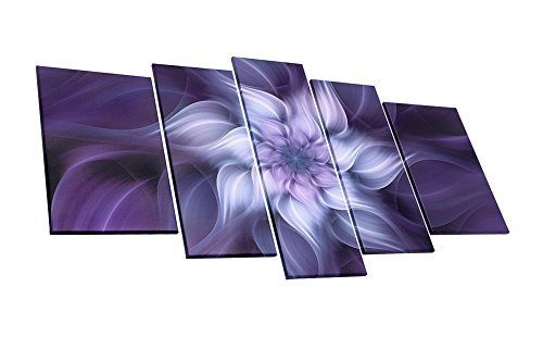 uLinked Art Bauhinia Chinese Redbud Purple Flower Plant Botany Picture Artwork 5 Panel Oil Painting On Canvas Print Home Decoration by Size Of 40x60cmx2, 30x70cmx2, (Art Chinese Oil Painting)