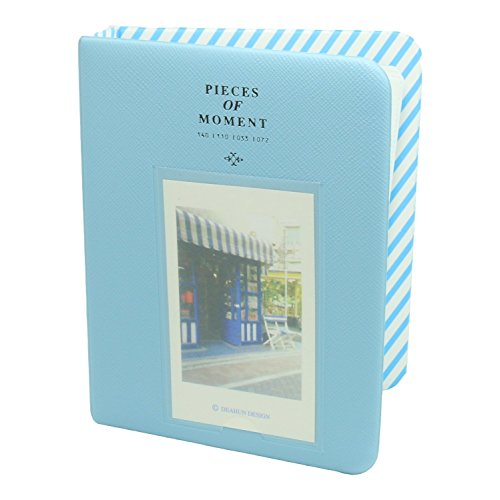 CaiulBasic [Fuji Instax Mini Photo Album] Pieces of Moment Mini Album for Films of Instax Mini 8 70 7S 25 50S 90/Pringo 231/Fujifilm Instax SP-1/Polaroid PIC-300P/Polaroid Z2300, 64 Photos, Blue