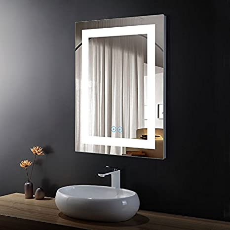 Bathroom Mirror with LED lighting and Touch switchWall Mirror-Atlanta K02