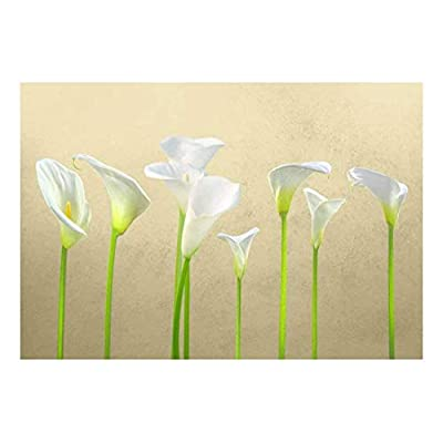 Arum Lilies with Copper Textured Background - Wall Mural, Removable Sticker, Home Decor - 66x96 inches