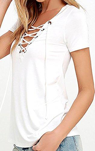 erdbeerloft - Camiseta - Opaco - para mujer Weiß