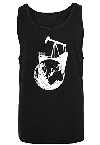 Big hombre mangas Camiseta Tank Camiseta sin Camiseta sin mangas sin para Black Earthsucker mangas de qAPAwtT