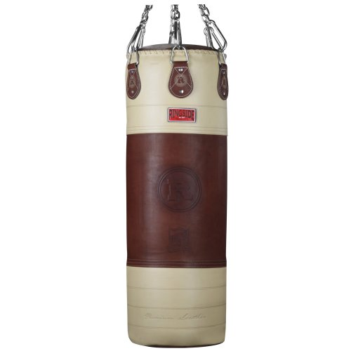 Ringside Heritage Genuine Leather Top Quality Boxing MMA Muay Thai Fitness Workout Training Kicking Punching 90 lb Heavy Bag by Ringside