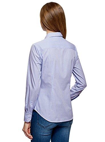 Femme Chemise Ultra oodji Basique 1070s en Bleu Coton q7B4p1TB