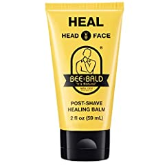 Bee Bald heal post-shave healing balm (2 fl. oz.) is now twice as great because it's twice the size of our 1 oz. Version heal immediately calms and soothes the skin and improve the physical appearance of bumps, nicks, blemishes and other shav...