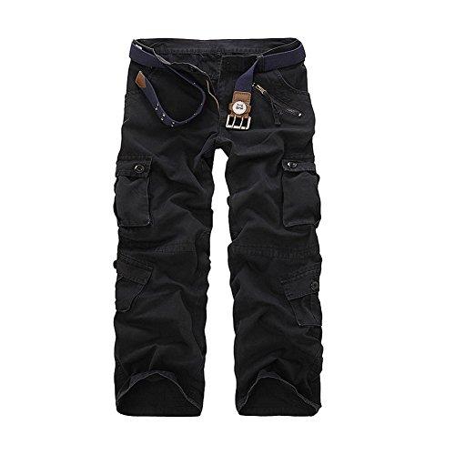 Camouflage Alpinisme Homme Casual Camo black Cargo Militaire Pantalon Ayg Noir Zqwf1v4