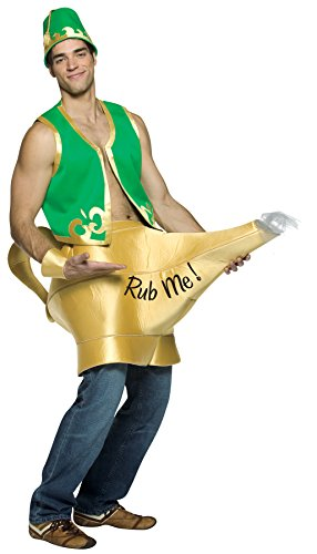 [Rasta Imposta Genie In The Lamp, Green, One Size] (Sexy Genie Costumes)