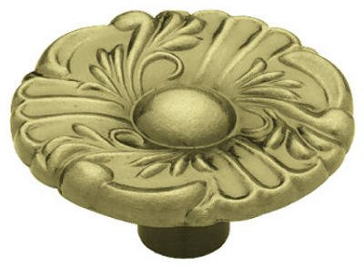 (Brainerd Mfg Co/Liberty Hdw P74580L-AB-U Antique Brass Provincial Round Cabinet Knobs, 2-Pk. - Quantity 5)