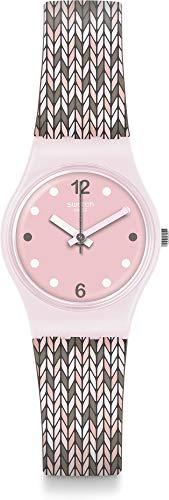 Swatch Women's Trico'Pink LP151 Pink Silicone Swiss Quartz Fashion Watch ()
