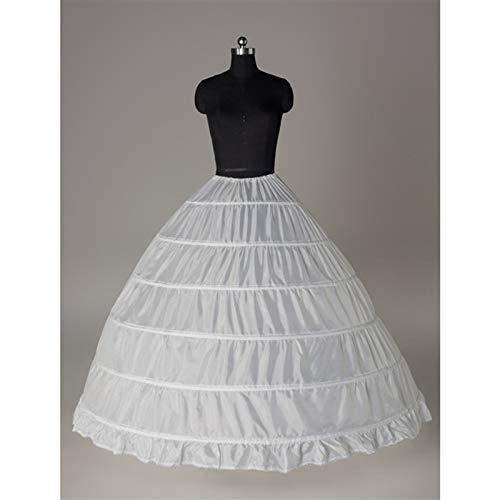 KJDJHF VDJHG Women Petticoat Hoop Skirt Slips Long Underskirt for Wedding Dress Ball Gown White