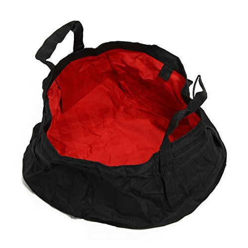 TOOGOO(R) Foldable Wash Basin Footbath Sink Water Bag Outdoor Camping Hiking 8.5L