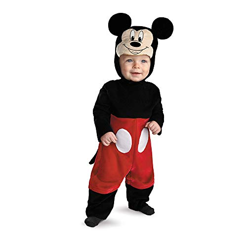 6 Month Baby Costumes (Disguise My First Disney Mickey Costume, Black/Red/White, 6-12)