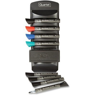 Quartet Marker Caddy Kit - Quartet : Marker Caddy Kit, Chisel Tip, 4 Assorted Colors, 8/Set -:- Sold as 2 Packs of - 1 - / - Total of 2 Each