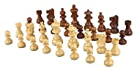 Morrigana High Quality Weighted Wood Chess Pieces - Pieces Only - No Board - 3 Inch King