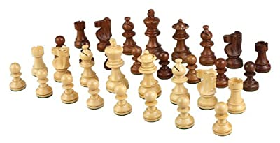 Morrigana Weighted Wood Chess Pieces – Pieces Only – No Board – 3 Inch King