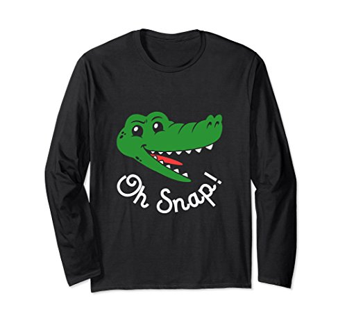 Alligator Long Sleeve - Unisex Oh Snap Long Sleeve Shirt 2XL Black