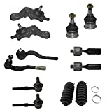 #6: Detroit Axle - 12pc Front Upper & Lower Ball Joints, Sway Bars, Inner Outer Tie Rod w/Boot Kit for 1995 1996 1997 1998 1999 2000 Toyota Tacoma 4x4 - [1998-2000 Toyota Tacoma Pre-Runner]