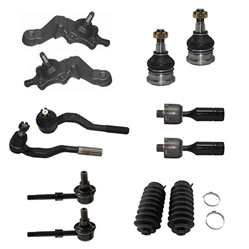 Detroit Axle - 12pc Front Upper & Lower Ball Joints, Sway Bars, Inner Outer Tie Rod w/Boot Kit for 1995 1996 1997 1998 1999 2000 Toyota Tacoma 4x4 - [1998-2000 Toyota Tacoma Pre-Runner] - Tacoma Prerunner Toyota 2000