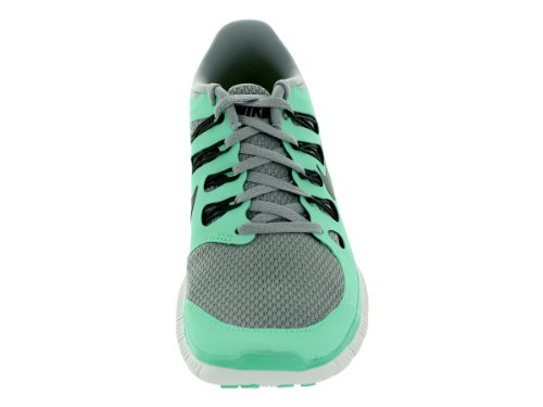 3cefa4907081 Nike Womens Free 5.0+ Running Shoes Silver Charred Grey Green Glow ...