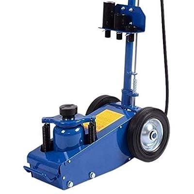 Goplus Air Hydraulic Floor Jack 22 Ton Truck Lift Jacks Service Repair Lifting Tool with Wheels
