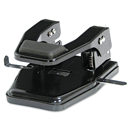 Master MP250 40-Sheet Heavy-Duty Two-Hole Punch, 9/32quot; Holes, Padded Handle, Black (Mp250 Master)