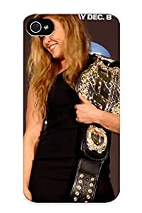 Judasslzzlc Iphone 4/4s Well-designed Hard Case Cover Ronda Rousey Ufc Mma Mixed Martial Sexy Babe Blonde Extreme (34) Protector For New Year's Gift