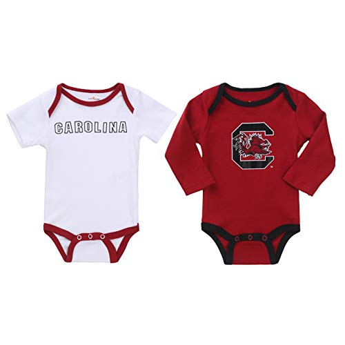 NCAA South Carolina Gamecocks 2 pcs Baby Bodysuits (3-6) Red