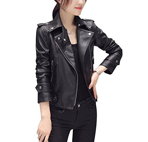 cuir Femme de en El moto Blazer Veste PU xq6XRO