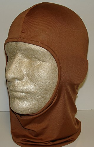 Solid Copper Rust Microfiber Lycra Poylester Spandex Stretch Balaclava Face Mask Hunting Military Hunt Biker Outdoors Ski - Balaclava Micro