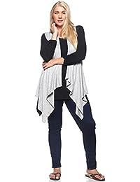 Sleeveless Open Front Cardigan - Drape Duster Vest – Plus Size (S-3X)