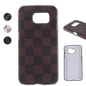 Teléfono Móvil Samsung - Cobertor Posterior - Diseño Especial - para Samsung Samsung Galaxy S6 ( Negro/Blanco/Marrón , Cuero PU ) , White