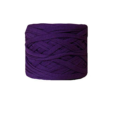 Clisil Purple T-Shirt Yarn Necklaces Bracelets Cotton Home Decor Recycled Yarn Chunky Yarn DIY Crochet Basket Bag Yarn 200g