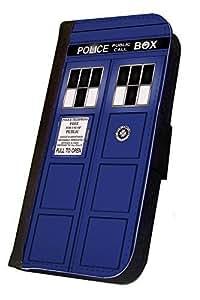 Tardis Doctor Who Classic Design, Samsung Galaxy Note 3 Flip Case, Samsung Galaxy Note 3 Cover, Flap Case, Pocket Case, Book Style Case, Wallet Case, Bi-Fold Case, 45