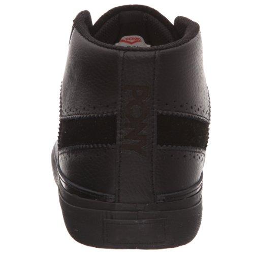 Pony - Zapatillas de deporte de cuero para hombre Negro