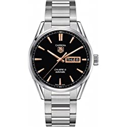 Tag Heuer Carrera Calibre 5 Black Dial Stainless Steel Mens Watch WAR201CBA0723